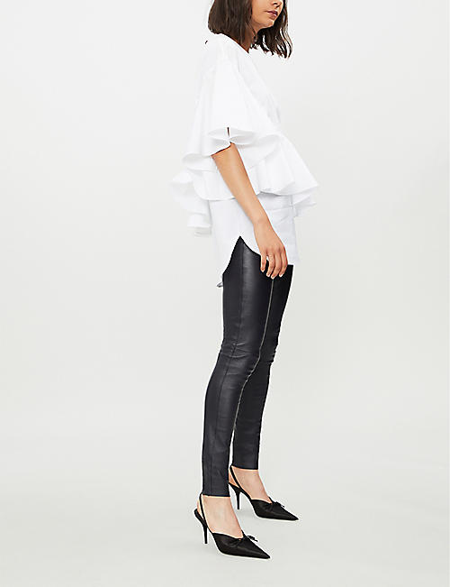6b0500b1ed Leather - Trousers - Clothing - Womens - Selfridges   Shop Online