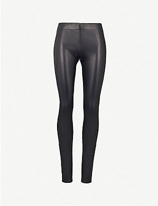 JOSEPH: Mid-rise skinny leather leggings