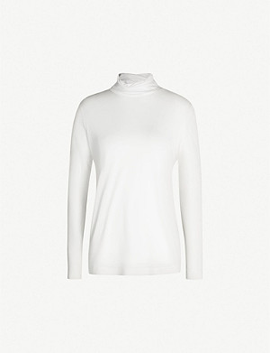 JOSEPH High-neck silk-jersey top