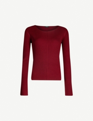 JOSEPH Open-neck knitted jumper