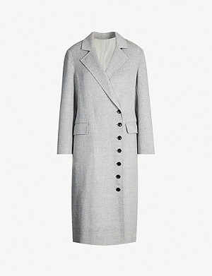 JOSEPH New Signe asymmetric wool and cashmere-blend coat