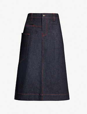 JOSEPH Kenneth stretch-denim skirt