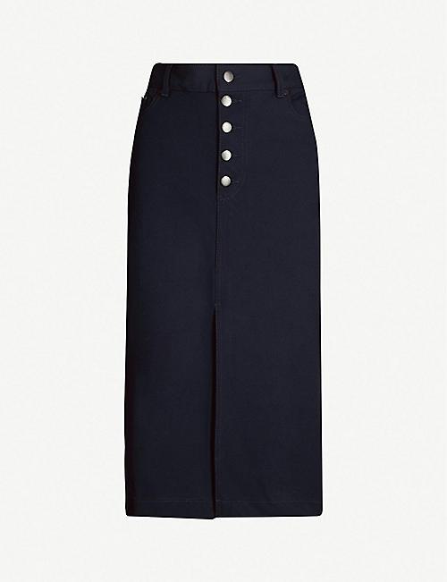 c033f56e76b JOSEPH Denna high-waist stretch-gabardine midi skirt