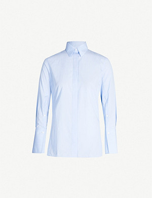 JOSEPH Mason split buttoned sleeve cotton blouse