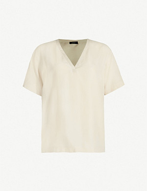 JOSEPH North V-neck silk-toile blouse