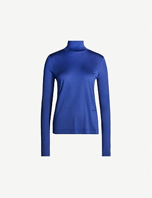 JOSEPH Relaxed-fit turtleneck silk-jersey top