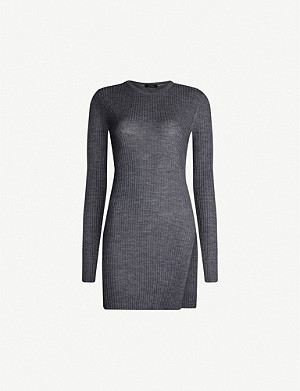 JOSEPH Tunic wool mini dress