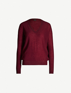 JOSEPH V-neck Cashair cashmere jumper