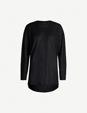 JOSEPH Cashair oversized cashmere knitted T-shirt