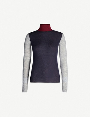 JOSEPH Cashair Novelty turtleneck cashmere jumper