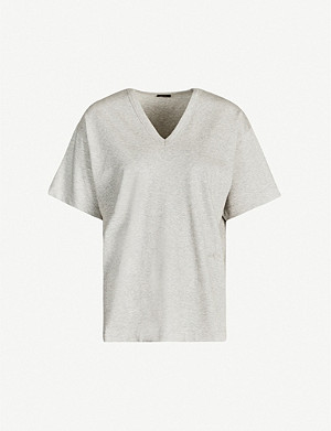 JOSEPH Perfect V-neck cotton-jersey T-shirt