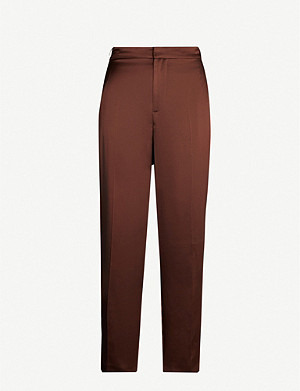 JOSEPH Jack high-rise silk trousers