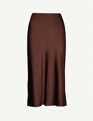 JOSEPH Frances silk slip skirt