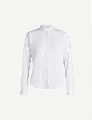 JOSEPH Edith cotton-blend poplin shirt