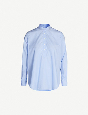 JOSEPH Luke cotton pinstripe blouse