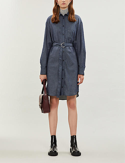 JOSEPH Fred belted chambray mini dress