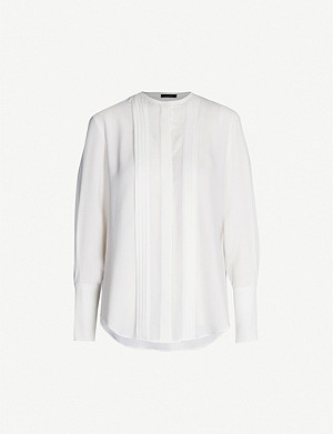 JOSEPH Cristo ribbed silk blouse
