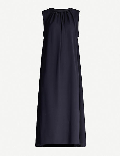 JOSEPH Grace silk-crepe midi dress