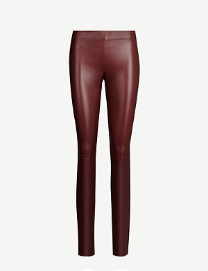 JOSEPH High-rise leather leggings