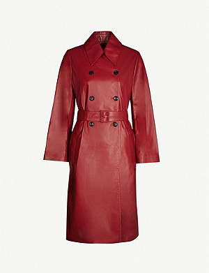 JOSEPH Romney nappa leather trench coat