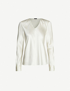 JOSEPH Meggy silk satin blouse