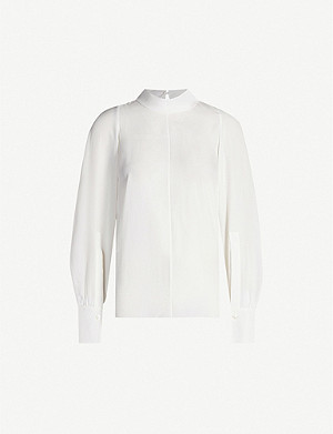 JOSEPH Laurrel high-neck silk-toile blouse