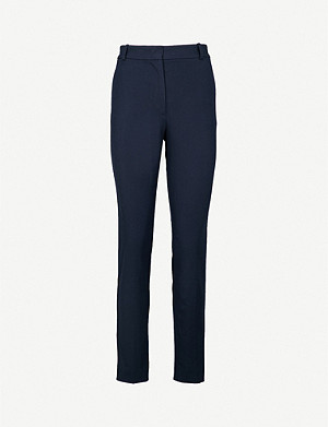 JOSEPH Zoom cropped stretch-gabardine trousers