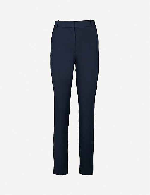 JOSEPH: Zoom cropped stretch-gabardine trousers