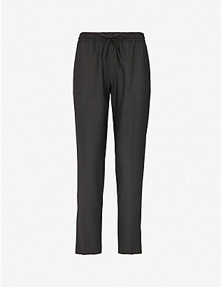 JOSEPH: Lound relaxed-fit cropped woven trousers