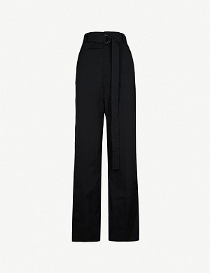 JOSEPH Bird straight cotton trousers