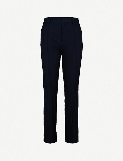 636fa9a1fad JOSEPH Slim-fit kick-flare cropped stretch-gabardine trousers