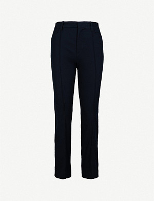 JOSEPH Slim-fit kick-flare cropped stretch-gabardine trousers