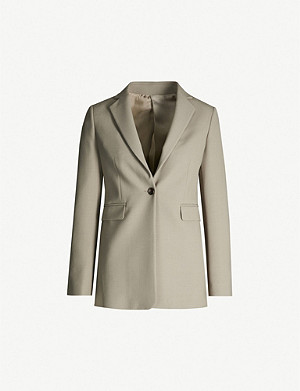 JOSEPH Lorenzo single-breasted woven jacket