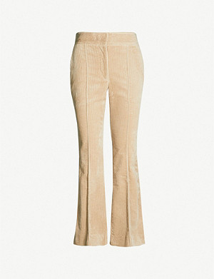JOSEPH Ridge high-rise kick flare corduroy trousers