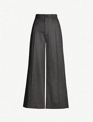 JOSEPH Dana stretch-wool wide-leg trousers