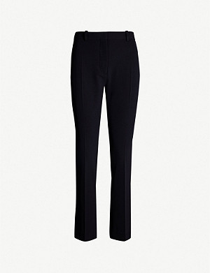 JOSEPH Zoom Comfort high-rise slim-fit wool-blend trousers