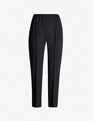 JOSEPH Dalton Comfort high-rise wool-blend tapered trousers