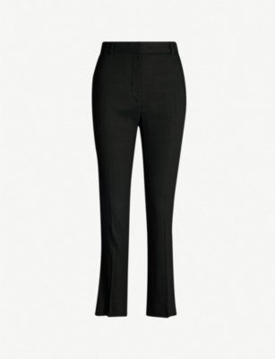 JOSEPH Zoom slim-fit high-rise stretch-linen trousers
