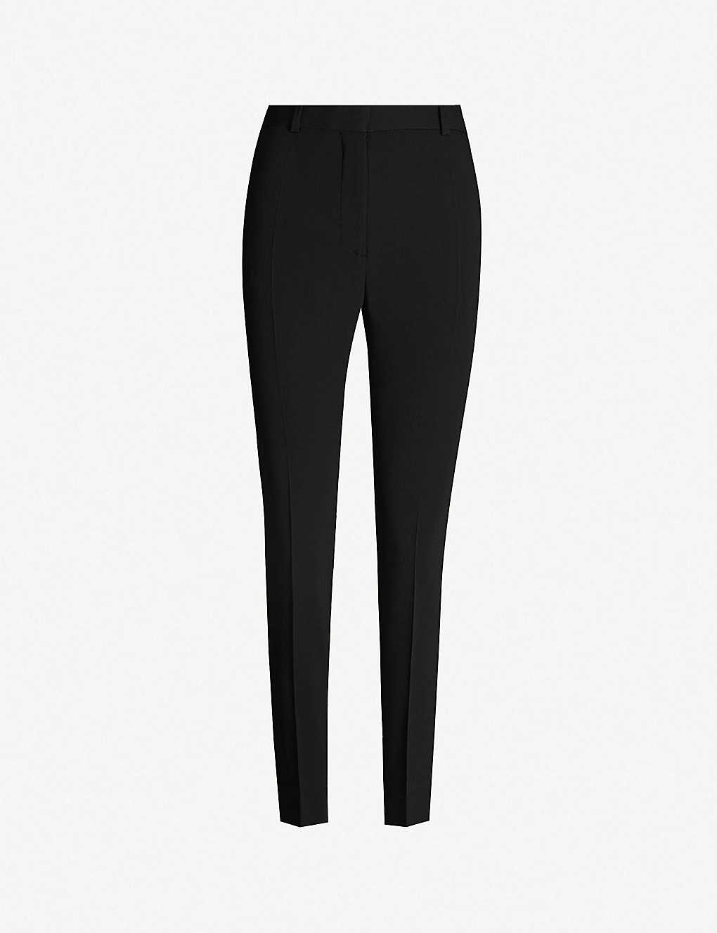 JOSEPH: Zoom slim-fit high-rise cady trousers