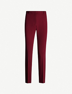 JOSEPH Zoom slim-fit high-rise cady trousers