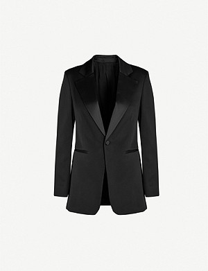 JOSEPH Stearn satin-lapel satin-crepe tuxedo jacket