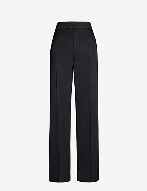JOSEPH Ferry high-rise wide-leg crepe tuxedo trousers