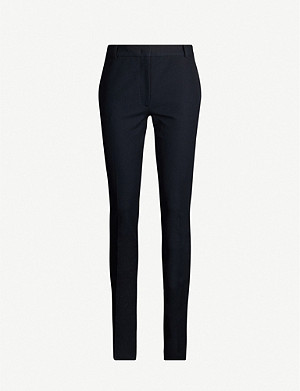 JOSEPH Zoran slim-fit high-rise stretch-gabardine trousers