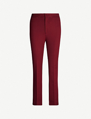 JOSEPH Terell high-rise stretch-cotton trousers