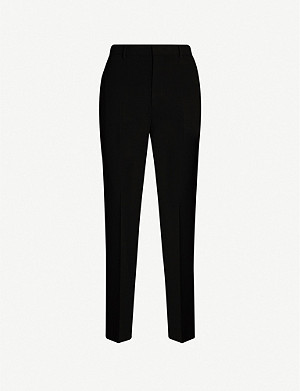 JOSEPH Coman slim high-rise stretch-crepe trousers