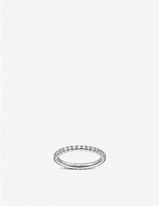 CARTIER: Étincelle de Cartier 18ct white-gold and 0.47ct diamonds wedding ring