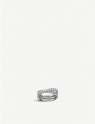CARTIER: Étincelle de Cartier 18ct white-gold and diamond ring