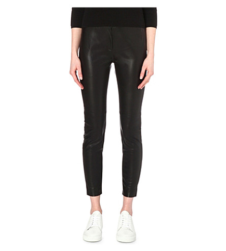 0123fde888b FRENCH CONNECTION - Atlantic faux-leather cropped trousers ...