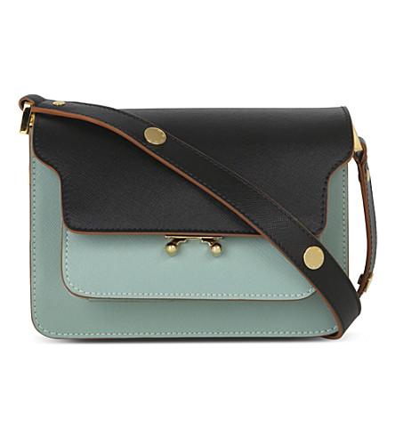 ... MARNI Mini trunk leather shoulder bag (Black+tea+green. PreviousNext 227da956efdae