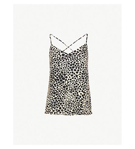 5222cca8009f WAREHOUSE - Cheetah-print crepe cami top | Selfridges.com